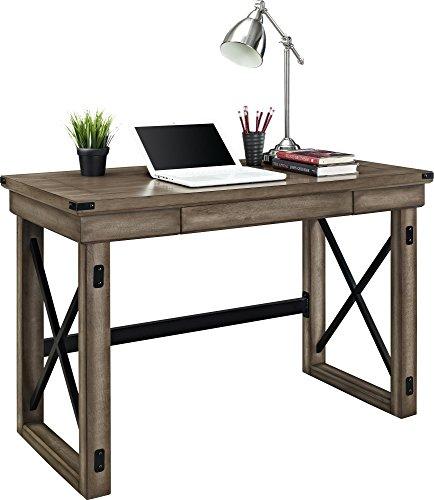 Altra Wildwood Wood Veneer Desk Rustic Gray Driftwood
