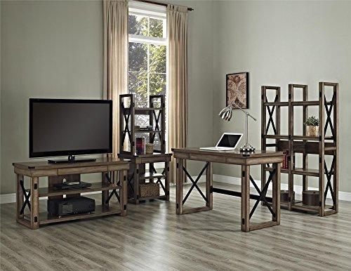 Altra Wildwood Wood Veneer Desk Rustic Gray 0 5