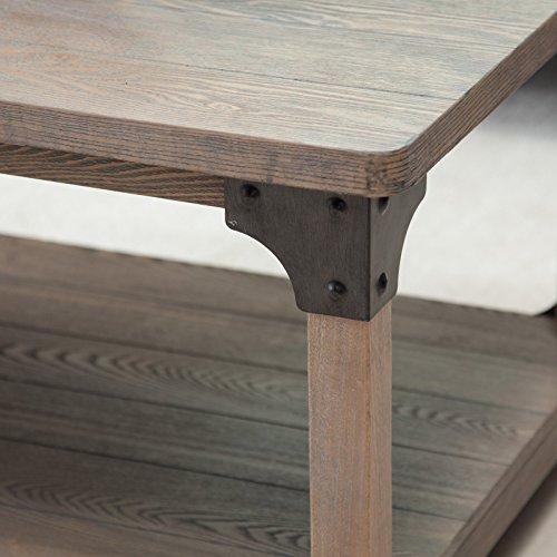Belham Living Franklin Reclaimed Wood Industrial Coffee Table: Belham Living Jamestown Rustic Coffee Table With Unique