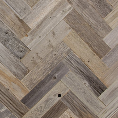 Diy Reclaimed Barn Wood Wall Herringbone Pattern Easy