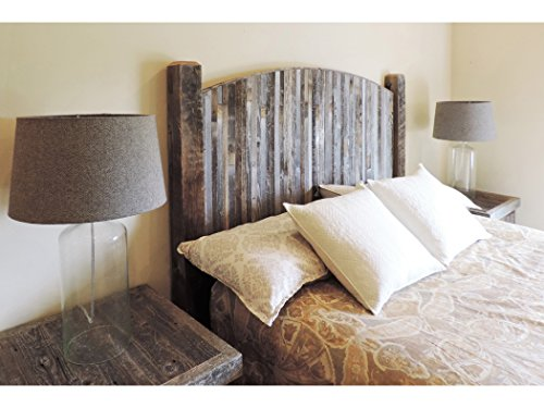 outlet store de374 e69e5 Farmhouse Style Arched Queen Bed Barn Wood Headboard w/ Narrow Rustic  Reclaimed Wood Slats