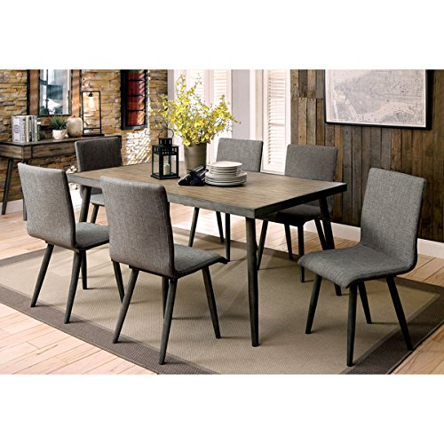 Industrial Modern Dining Room Table: Furniture Of America Bradensbrook Mid-Century Modern