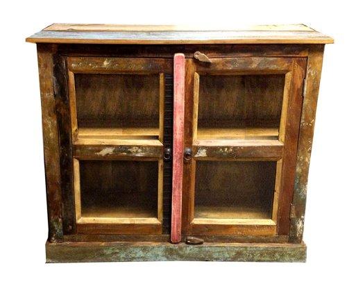 Gurman La La 1442 Antique Accent Cabinet With Double Glass Doors 40