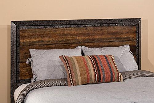 mackinac king headboard in old black driftwood finish bed frame - Driftwood Bed Frame