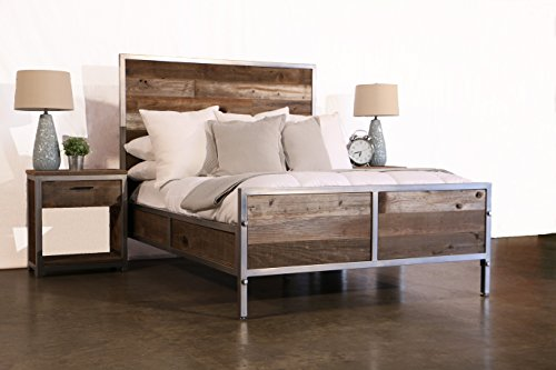 Reclaimed Wood Bed ~ Modern reclaimed wood bed driftwood furnitures