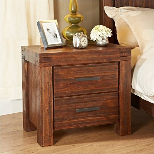 Modus Furniture 3f4181 Meadow Solid Wood Nightstand Two