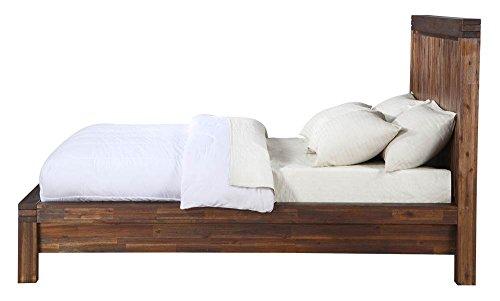 Modus Furniture Meadow Solid Wood Platform Bed Brick Brown King