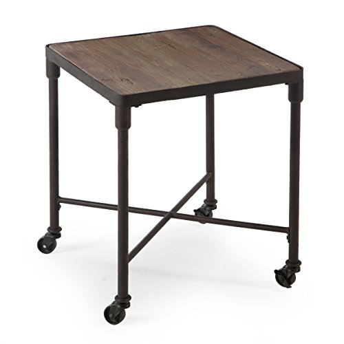 Reclaimed Fir With Steel Pipe Legs Wood Industrial End Table Driftwood