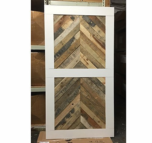Reclaimed Wood Chevron Sliding Barn Door Driftwood Furnitures