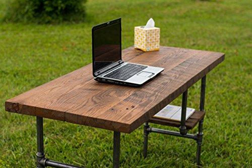 "Reclaimed Wood Rustic Home Office: Rustic Solid Oak W/ 28"" Black"