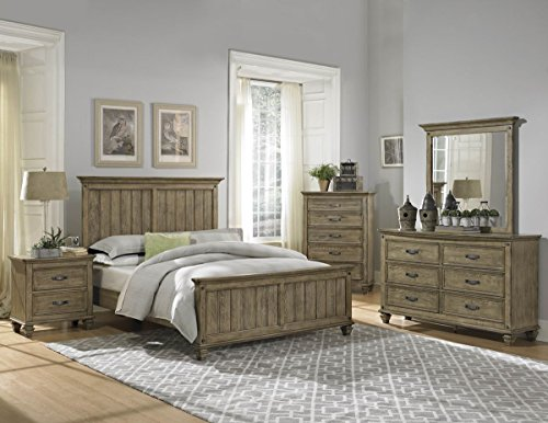 Rustic driftwood finish bedroom furniture with or without for Bedroom sets without bed