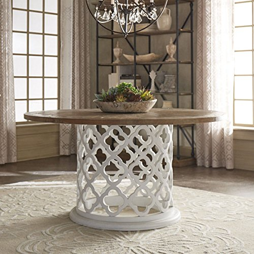 SIGNAL HILLS Vince Reclaimed Wood Inch Moroccan Trellis Drum - 60 inch reclaimed wood dining table
