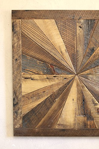 Starburst Pattern Wall Art Made From Reclaimed Wood ...