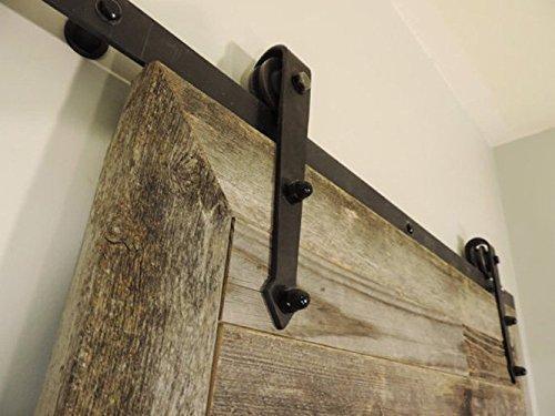 The Bretton Style Rustic Reclaimed Wood Sliding Barn Door 36 X 84