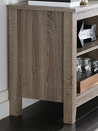 We Furniture 58 Wood Tv Stand Storage Console Driftwood