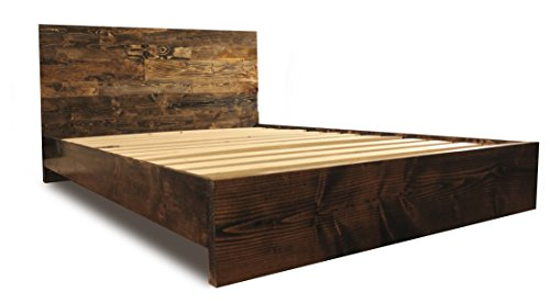 Wooden Platform Bed Frame And Headboard Modern And