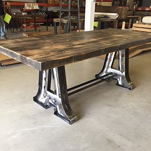 Barn Wood Dining Table With Steel Quot A Quot Frame Base