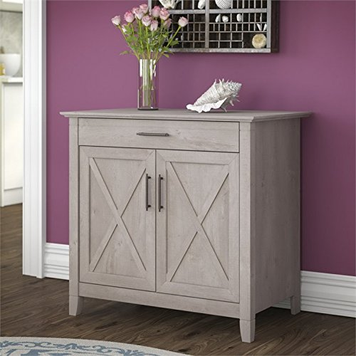 Bush Furniture Key West Storage Cabinet ... & Bush Furniture Key West Storage Cabinet in Washed Gray | Driftwood ...