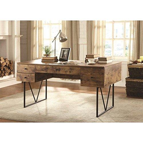 Coaster 800999 Home Furnishings Desk Antique Nutmeg Black
