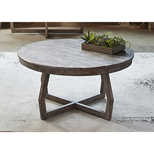 Cocktail Coffee Tables Transitional Rustic Hayden Way Gray Wash - Coffee table depth