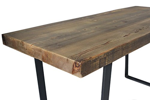Dining Table Reclaimed Wood Industrial Steel Rustic Modern Driftwood Furnitures