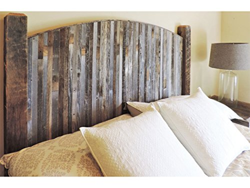 Farmhouse Style Arched Twin Bed Barn Wood Headboard W