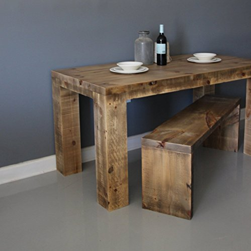 Farmhouse style dining table made from reclaimed barn for Barn style kitchen table
