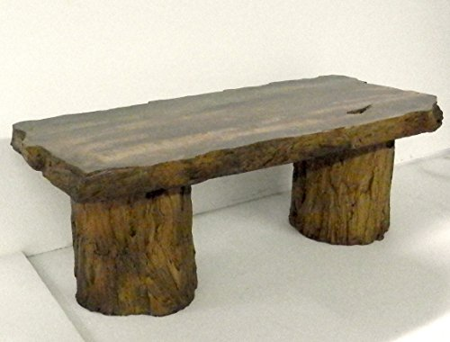 Marvelous Handmade Fossilized Bench Concrete Table ... Awesome Design