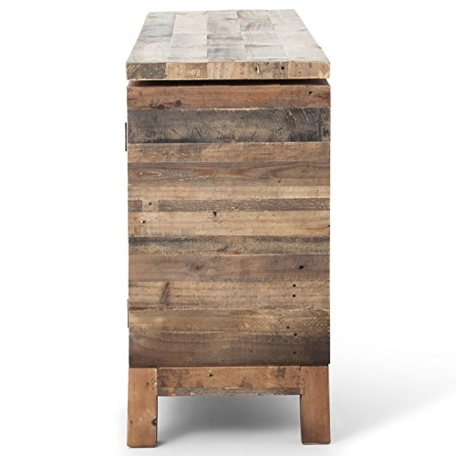 Hunter Rustic Lodge Reclaimed Wood 3 Door Cabinet