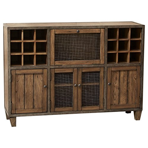 Industrial Rustic Vintage Liquor Storage Wine Rack ...