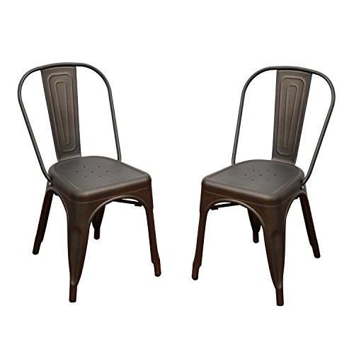 Metal Dining Chairs With Back Set Of Four Homebeez 2016