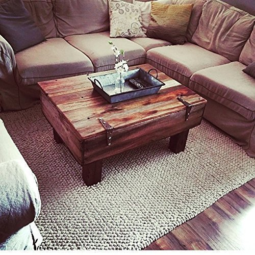 Reclaimed Fruit Crate Coffee Table With Hinged Storage