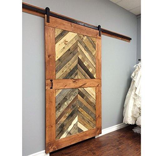 Reclaimed Wood Chevron Sliding Barn Door Driftwood Furnitures