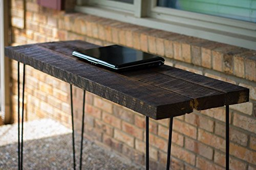 Reclaimed Wood Computer Desk Table With Rustic Barn And Solid Oak W 28 Hairpin Legs