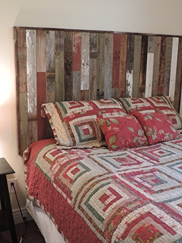 Reclaimed Wood Headboard Panel For King Bed 82 5 Quot X 37 5 Quot Made Of Recycled Rustic Barn Wood Wallmounted Your Choice Of Accent Colors
