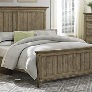 Rustic Driftwood Finish Bedroom Furniture With Or Without Storage U2013  Sylvania (Cal King Bed W/o Storage)