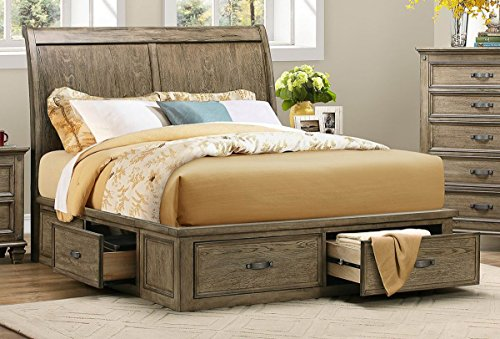 Rustic Driftwood Finish Bedroom Furniture with or without Storage ...