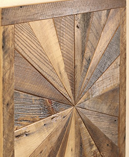 Exceptionnel Starburst Pattern Wall Art Made From Reclaimed Wood ...