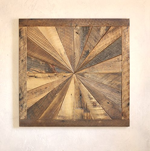 Starburst Pattern Wall Art Made From Reclaimed Wood