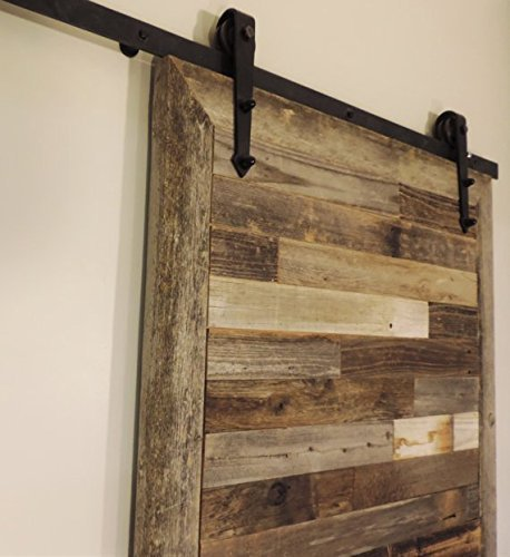 The Bretton Style Rustic Reclaimed Wood Sliding Barn Door 36 X 84